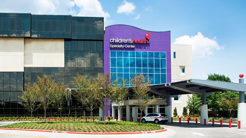 Campus del Centro de especialidades de Dallas de Children's Health