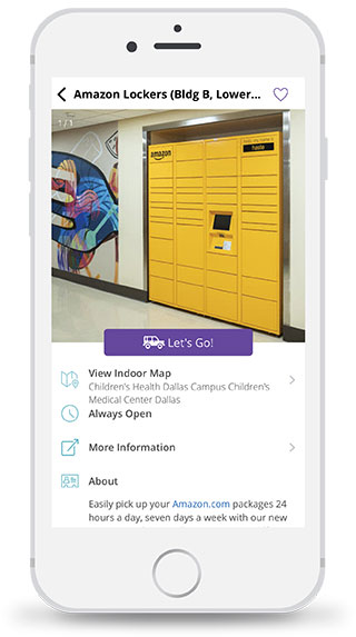 Image of Amazon lockers in Children's mobile app