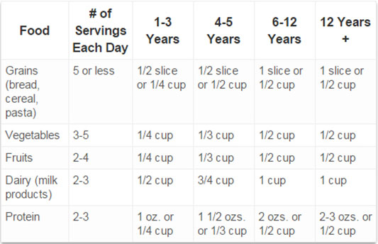 portion size chart