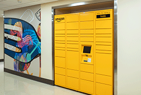 "Amazon Locker named ""Haste"" is located at Children's Medical Center Dallas"