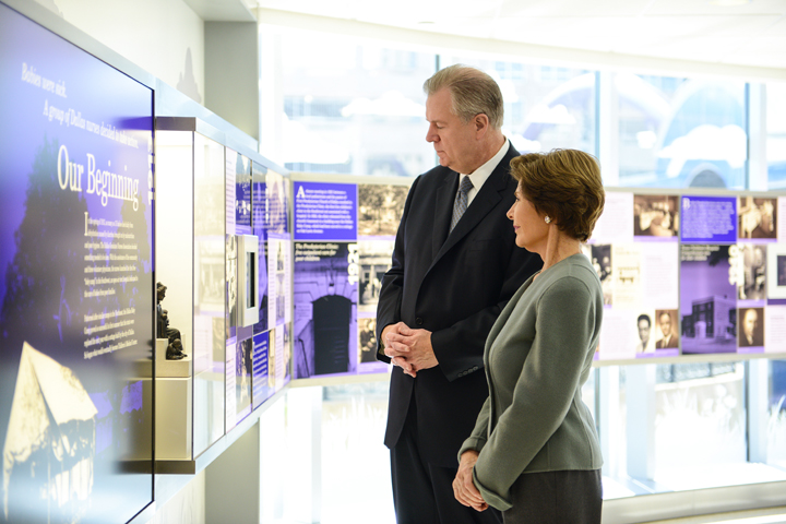 former first lady and Children's President and CEO takes tour