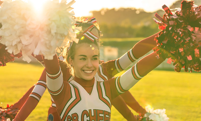 Cheerleading teenager