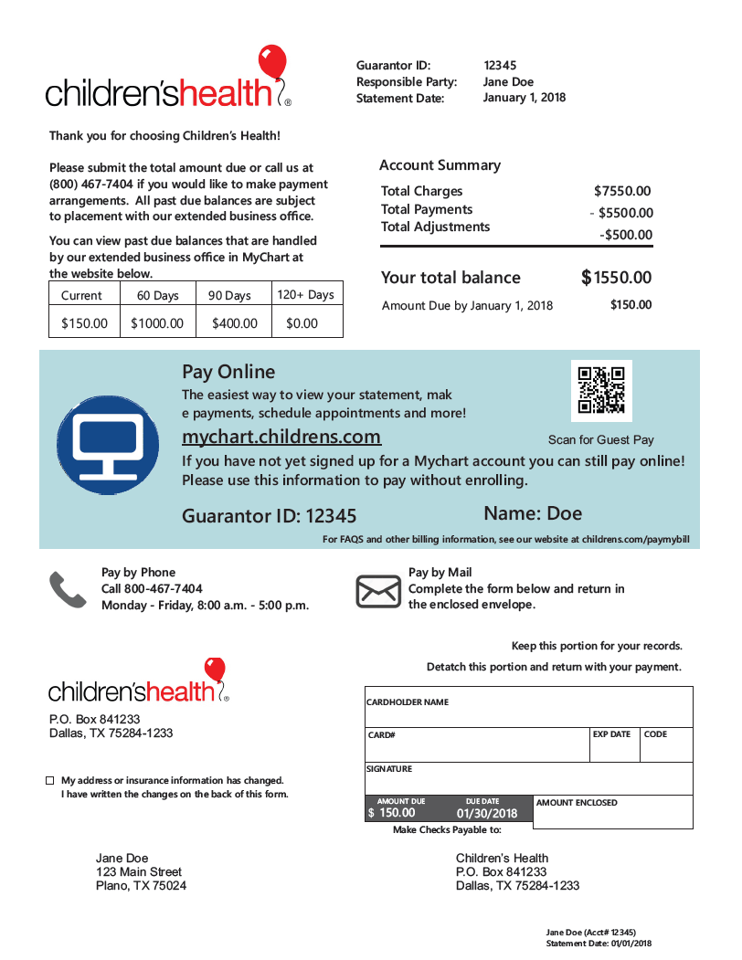 Pay My Bill - How to make a bill for services