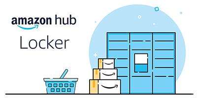 Logotipo de Amazon Lockers con casilleros