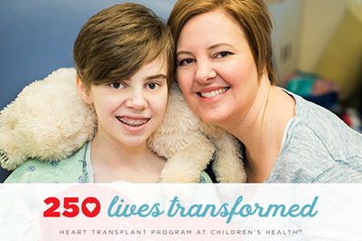 250th heart transplant patient and mom