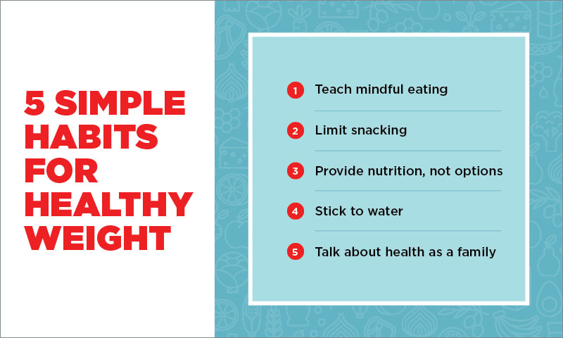 5 simple habits for healthy weight