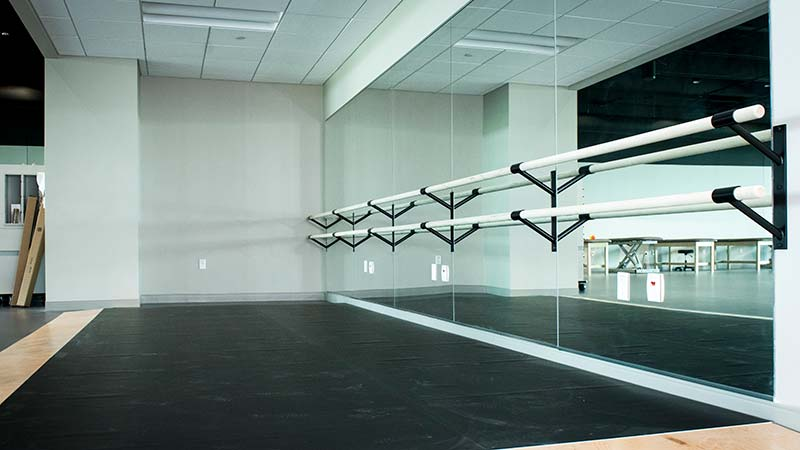 A special dance floor with a sprung floor that can absorb shock which helps improve performance while reducing injury.