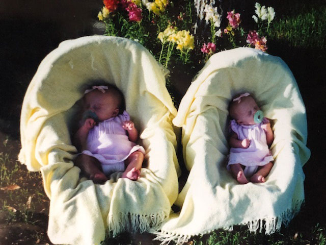 Macee and Madi as babies