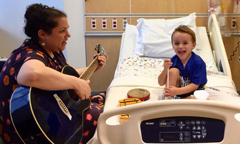 Miles in music therapy