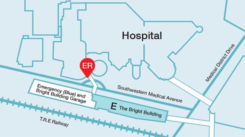 Mapa de la sala de urgencias del Departamento de Urgencias de Children's Health en Dallas
