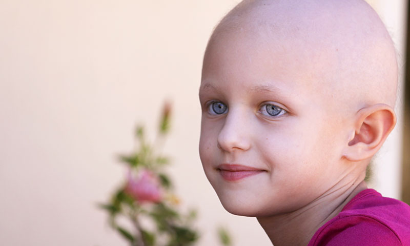 little girl, cancer patient