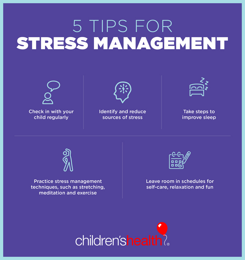 Stress management tips for teens and families - Children's ...