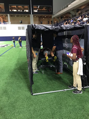 Sideline medical tent