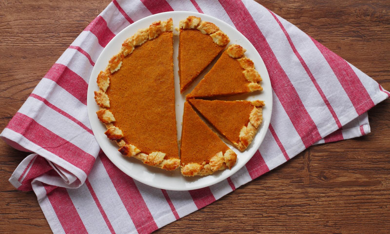 Fresh Homemade Pumpkin Pie