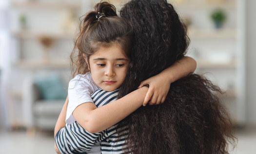 Grandmother talking to grandson about serious topic