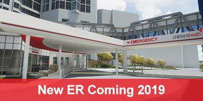 Rendering of the main entrance to the new Emergency Department at Children's Health