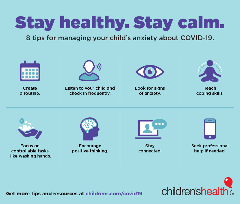 Helping Children With Anxiety About Covid 19 Children S Health
