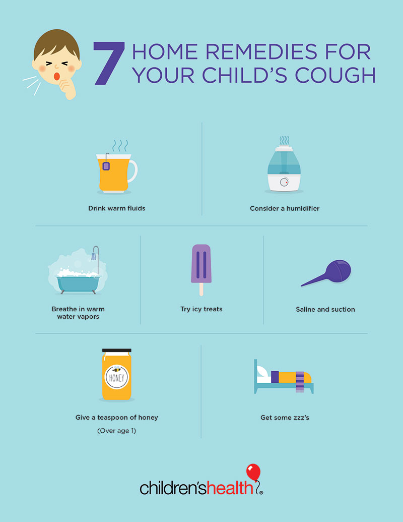 Home Remedies For Cough In Kids Infographic